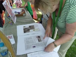 We showed Dashwood's history book at Banbury's Hobby Horse Festival 2009